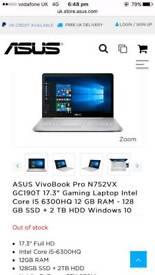 Asus VivoBook Pro N752VX GC322TIntel Core i5-6300HQ Quad Core Processor