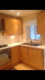 Kitchen and appliances and worktops
