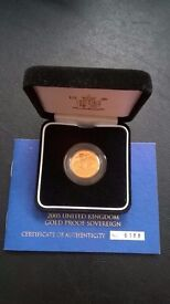 Full Gold Sovereign. Proof 2005.