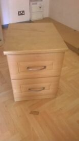 bedside cabinets in good solid condition £20 each
