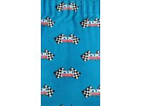 Curtains with Grand Prix chequered flag design