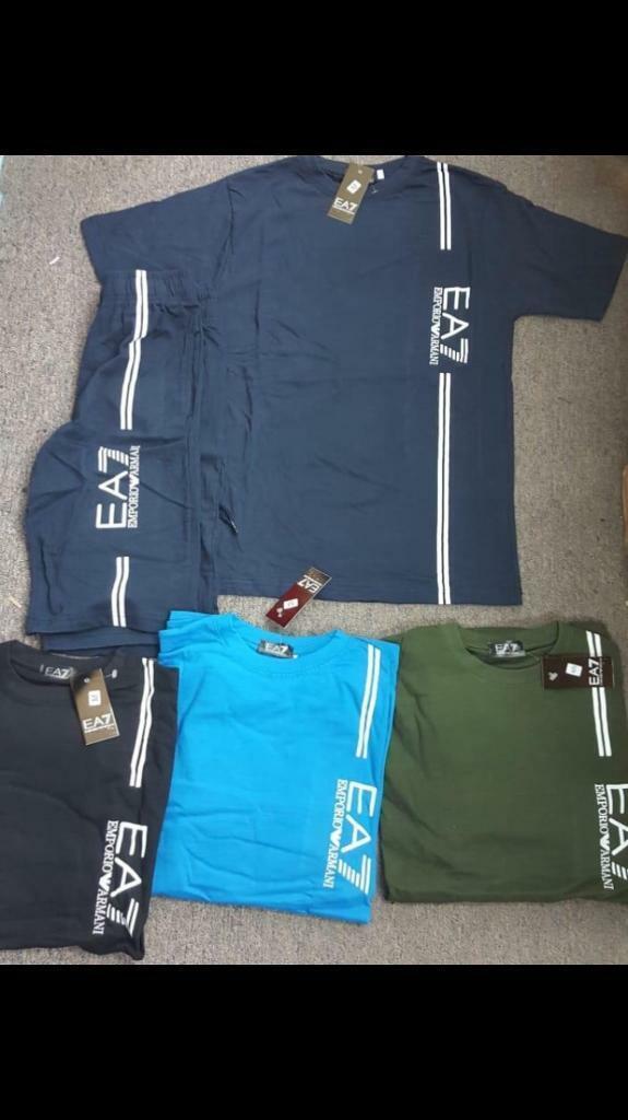 fd022ddf7 SIZE S M L XL XXL EA7 ARMANI SHORTS & T SHIRT SET BRAND NEW (not) northface  lacoste Adidas Hugo boss