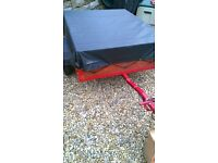 superb camping trailer, newly built and with new weatherproof cover