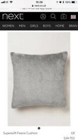 3 Next Super Soft Fleece Cushion in Grey