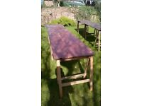 Trestle table for indoor or outdoor use