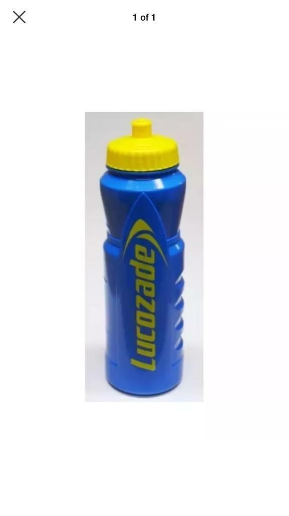 LUCOZADE EASY FILL RUNNING & ATHLETICS SPORTS WATER DRINKING BOTTLE 1 LITRE.