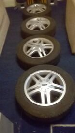 Ford Focus Alloy Wheels Zetec And Tyres X 5
