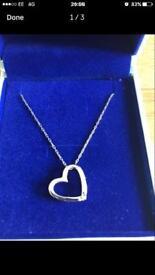 Miore Silver Heart Necklace