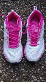 Ladies Karrimor Trainers Size 7.5, Pink/White - PRICE REDUCED BY £10!!!