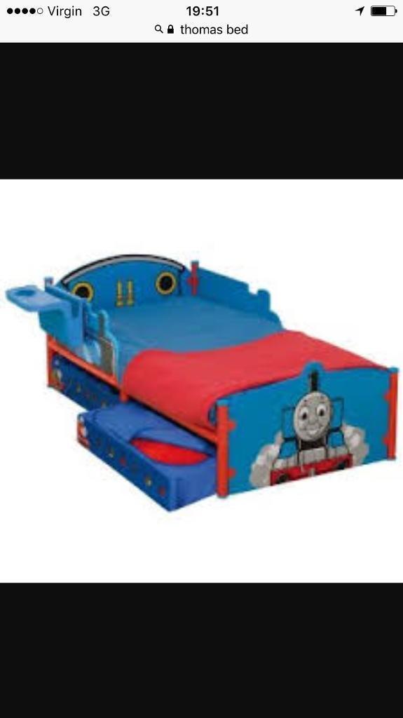 Thomas bed, mattress, full bedroom set up!