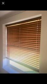 Oak wooden blinds