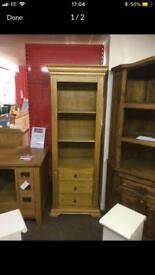 Oak Malloy shelving unit * free furniture delivery *
