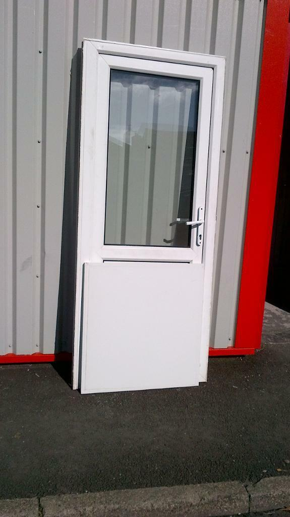 upvc back door with frame 33 inches wide x 80 inches high in good ...