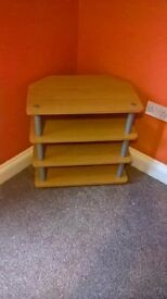 Wooden TV & DVD Stand