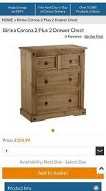 Corona furniture, new in boxes