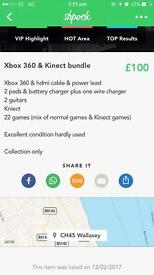 Xbox 360 console, games & extras