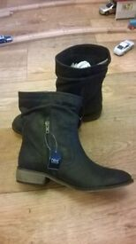 black next ladies boots