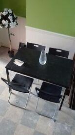 Black ikea dining table