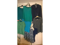 Bundle of women's tops- eight size 18-20, two 14-16 and one dress size 8 £5