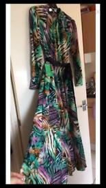 Gorgeous long sleeve colourful dress