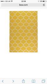 Ikea Stockholm rug, yellow