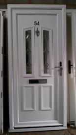 upvc door with frame in good condition with keys 38 inch wide 82 inch high call 07498143887