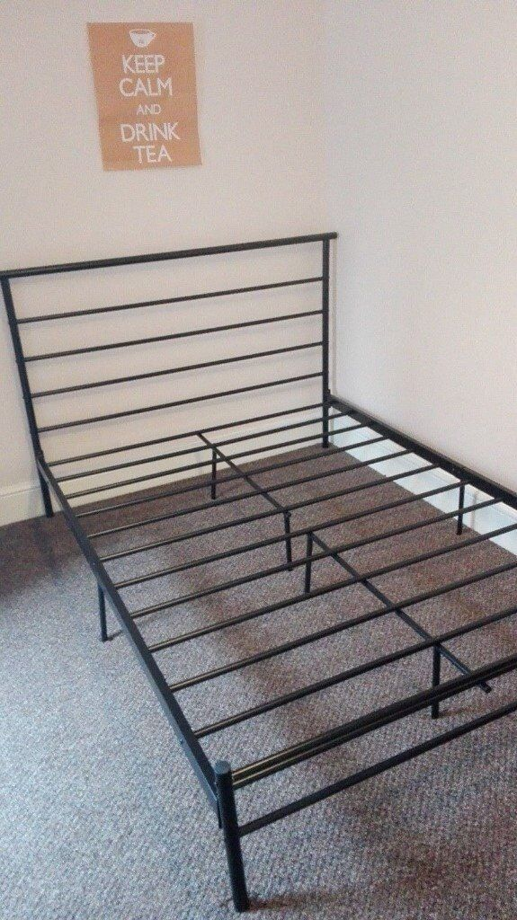 BLACK METAL DOUBLE BED FRAME,CAN DELIVER