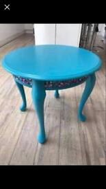 Topaz table with embellishments