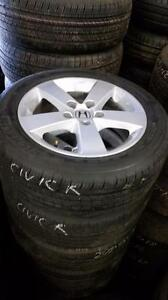 205 55 16 Michelin  tires  on OEM Honda Civic  alloy rims 5 x 114.3 from $700 set