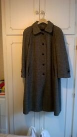 Ladies Classic Alexon Black and White wool coat ideal for winter