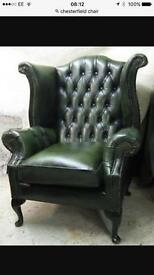 Wanted chesterfield chairs etc