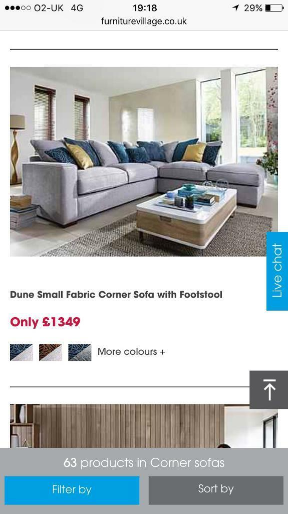 Furniture village Corner sofain Sompting, West SussexGumtree - Furniture village corner sofa paid £1349 and still at same price excellent condition light grey colour with foot stall no marks or Scratches only selling due to moving house and wont fit! Can be available in 3weeks time