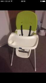 High chair for unisex
