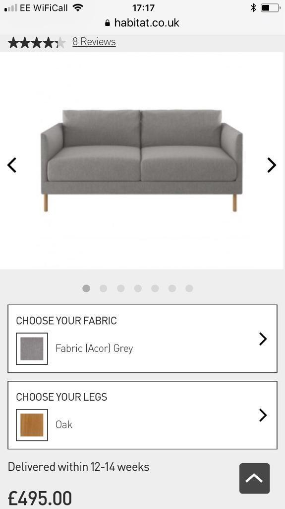 344f86ccb0b Habitat Hyde sofa (ex-display as new) RRP £495