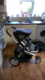 Quinny Buzz rear & front facing Pushchair. Additional Pram attachment with both rain covers and more