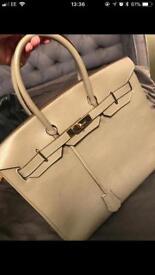 Hermes leather birkin medium grey