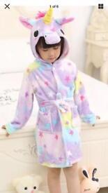 New unicorn dressing gown 9-10