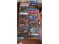COLLECTION OF VHS FILMS APPROX 200 OVER 500 HOURS OF VIEWING.