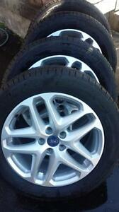 LIKE BRAND NEW 2014 FORD FUSION FACTORY OEM  17 INCH WHEELS WITH 225 / 50 / 17 ALL SEASON TIRES