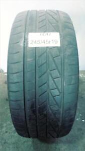 PNEU ÉTÉ USAGÉ / SUMMER USED TIRE 245/45R19 24545R19 GOODYEAR EXCELLENCE RUNFLAT (1 DE DISPONIBLE)