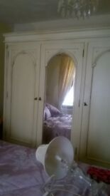 Large wardrobe / drawer unit made from solid Italian wood - matching dressing table & more available