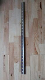 Tile Trim / Edging. Aluminium Square Edge. 2.44 Metre Long. 12mm Depth / Height. 6.5 Lengths.