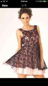 LIPSY Lace Vintage Low-back Prom/Skater Dress (size 8) rrp £65.00