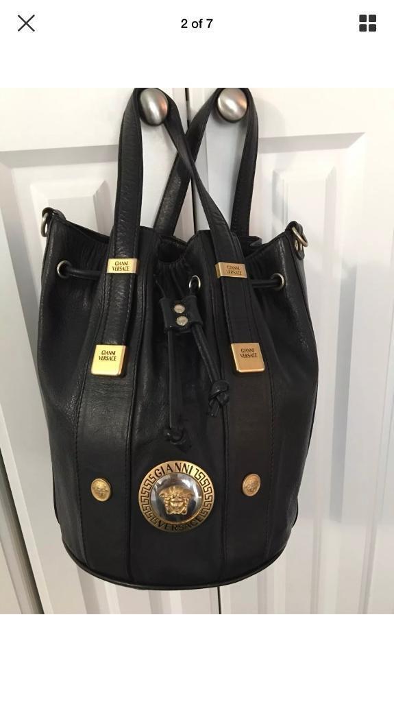c9c0205894c8f Gianni Versace vintage leather handbag