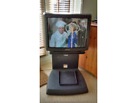 """SONY TRINITRON 21"""" COLOUR CRT TV + Remote, manual & stand IDEAL FOR RETRO GAMING"""