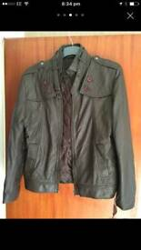 Men's Slim fit biker style Leather Jacket