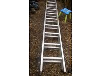 extension aluminium 2 section ladder 2 x 3.2 m