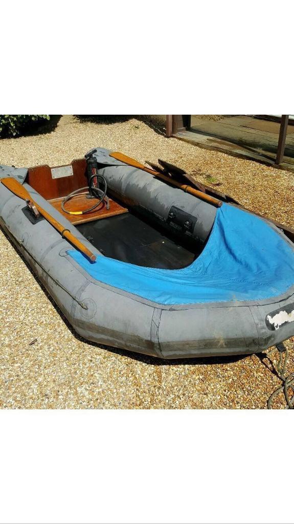 12ft dinghy (inflatable hard bottom rib tender fishing) | in Leatherhead,  Surrey | Gumtree