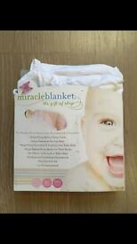 Miracle baby swaddle blanket white rrp20£