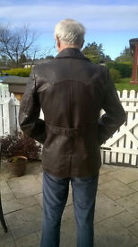Genuine leather jacket, vintage (1940s) mens, brown